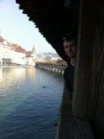 Bri playing peek-a-boo on the bridge?!