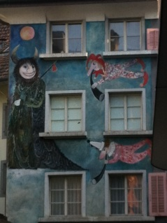 """Side of a building that reminds me of """"Where the Wild Things Are""""!"""