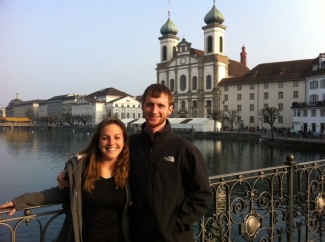 Me and Brian in front of an awesome church.