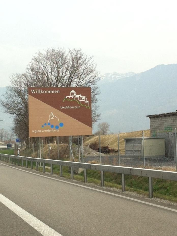 Welcome to Liechtenstein! Don't blink!