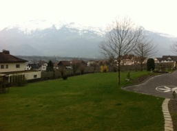 Gorgeous scenery and the Swiss Alps in the background!