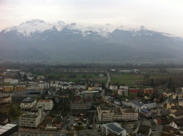 That's Vaduz. The whole thing. Those mountains though!