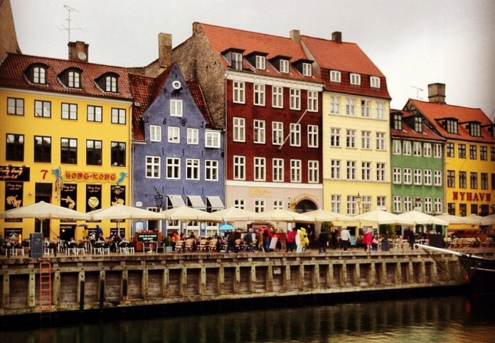 Nyhavn (pronounced Newhown) in Copenhagen