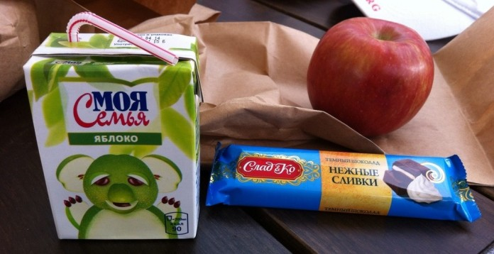 Russian lunch minus the pancake!