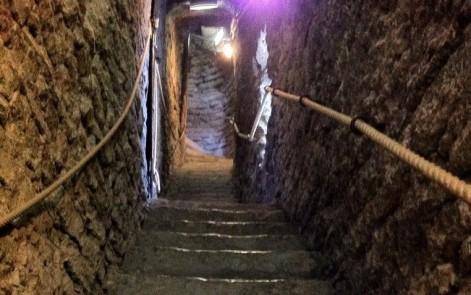 Steps inside St. Olaf's Church.