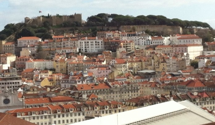 View of Lisbon (and castle) from above.