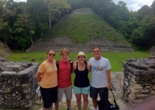 At the top of one of the Caracol ruins, with another in the back!