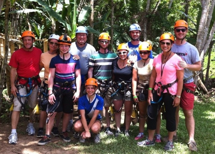 Zip lining the longest course in Belize!