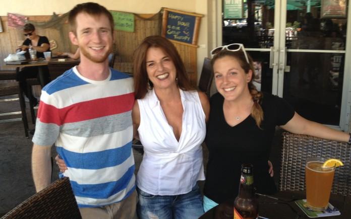 Us and mom enjoying drinks and tapas!
