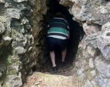 Brian walking into a dark, musty hole. No big.