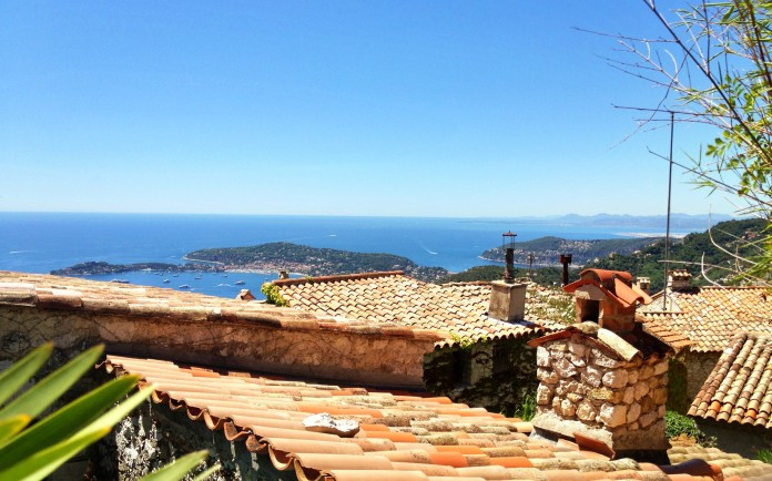 The view from Eze Village's Exotic Gardens