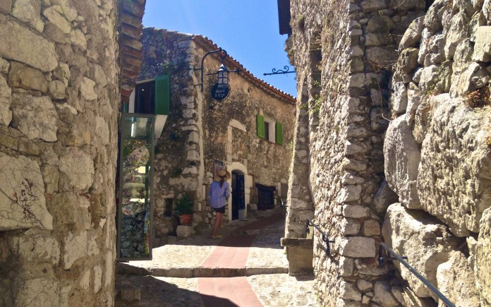 Walking through Eze Village's old town
