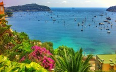 View of Villefranche from the highway.