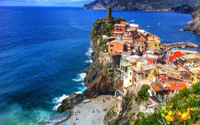 Vernazza from above. Gorgeous!