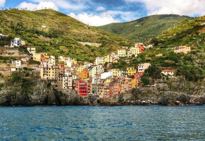 Riomaggiore from the ferry!