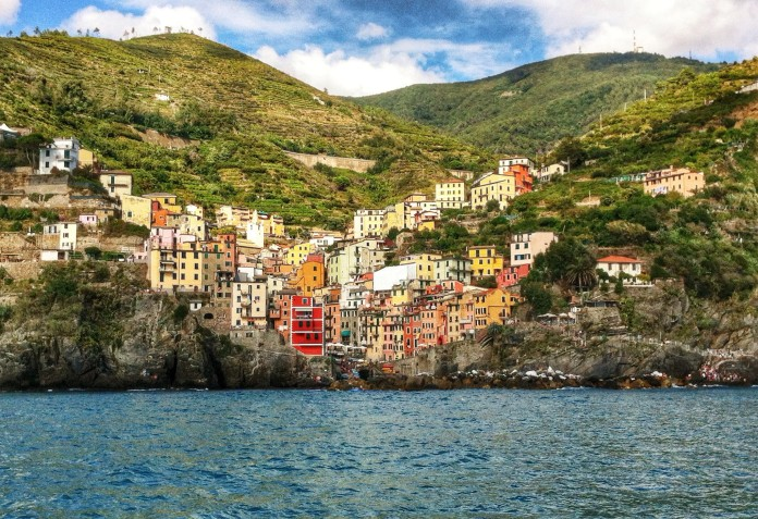 Riomaggiore from the ferry!