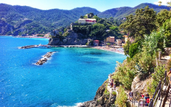 Monterosso from the hiking path between it and Vernazza.
