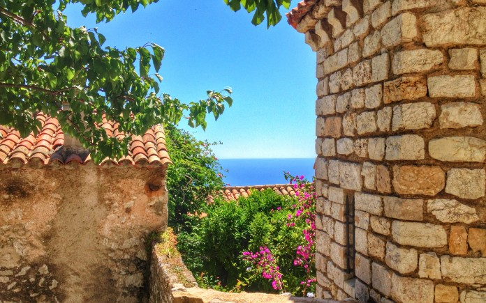 Looking at the Mediterranean from Eze Village