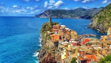 Vernazza, as seen on the path from Corniglia