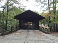 Covered bridge in Stone Mountain Park
